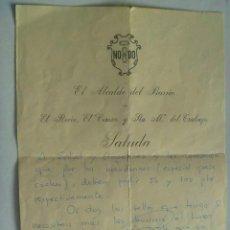 Documentos antiguos: SALUDA DEL ALCALDE DE BARRIO ( EL CEREZO, EL ROCIO, HERMANDAD TRABAJO) SEVILLA, 1973.... Lote 43819024