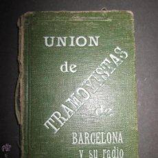 Documentos antiguos: CARNET UNION DE TRAMOYISTAS DE BARCELONA Y SU RADIO - AÑO 1922 -(V-791). Lote 43843416