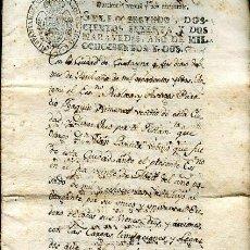 Documentos antiguos: DOCUMENTO MANUSCRITO ESCRIBANO JUAN DE OROZCO 1802 CARTAGENA. Lote 43846979