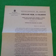 Documentos antiguos: CIRCULAR NUMERO 8 DE RENFE DE ABRIL DEL 1971. Lote 44375703
