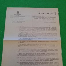 Documentos antiguos: ANEJO NUMERO 1 DE RENFE DE FEBRERO DE 1969. Lote 44375845