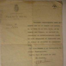 Documentos antiguos: AÑO 1941 REQUERIMIENTO DEL AYTO POR SERVIR PAN BLANCO EN UNA BODA. LEER TEXTO. INTERESANTÍSIMO. ÚNIC. Lote 44429463