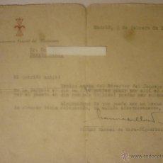 Documentos antiguos: POST-GUERRA CIVIL, DOCUMENTO FIRMADO POR EL VICESECRETARIO GENERAL DEL MOVIMIENTO, MORA-FIGUEROA. Lote 44429859