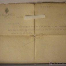 Documentos antiguos: CARTA DEL MINISTRO DE FOMENTO LEOPOLDO MATOS Y MASSIEU A SU SOBRINO. 10 MARZO 1930. DOC ÚNICO. Lote 44430017