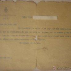 Documentos antiguos: CARTA DEL MINISTRO DE LA GOBERNACIÓN LEOPOLDO MATOS Y MASSIEU A SU SOBRINO. 22 ENERO 1931. DOC ÚNICO. Lote 44430087