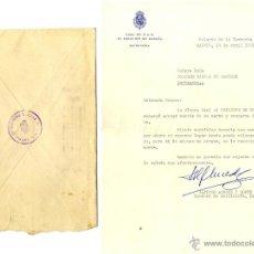Documentos antiguos: GENERAL ARMADA, CARTA AÑO 1971 CON SOBRE Y CARTA FIRMA AUTÓGRAFA. Lote 44636659
