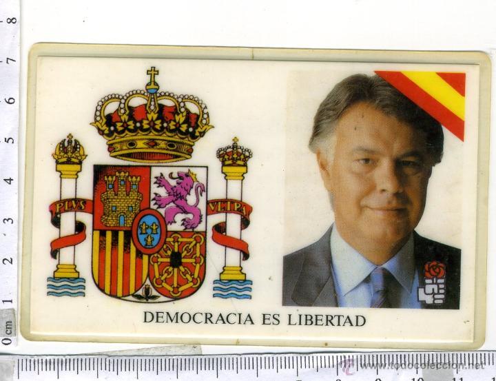 CARNET DE FELIPE GONZALEZ MARQUEZ, PRESIDENTE DEL GOBIERNO P.S.O.E (Coleccionismo - Documentos - Otros documentos)