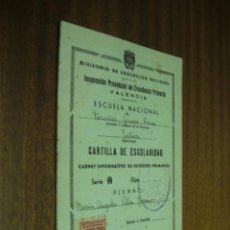 Documentos antiguos: CARTILLA DE ESCOLARIDAD / MINISTERIO DE EDUCACIÓN NACIONAL / VALENCIA 1952. Lote 44864771