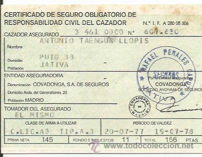 F640 certificado de seguro obligatorio de comprar en for Seguro responsabilidad civil autonomos obligatorio