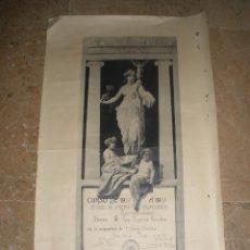Documentos antiguos: ANTIGUO DIPLOMA PREMIO EXTRAORDINARIO CURSO 1930-1931 ESCUELA ARTES TOLEDO HAUSER Y MENET 64 CM. Lote 44975886
