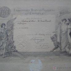 Documentos antiguos: EXPOSICION HISPANO-FRANCESA DIPLOMA DE HONOR 1908. Lote 45095071