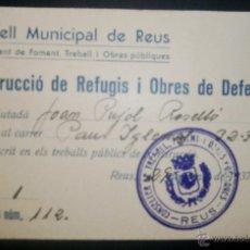CARNET CONSELL MUNICIPAL DE REUS