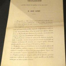 Documentos antiguos: DOCUMENTO CON OBLIGACIONES INQUILINOS BARCELONA AÑO 1869 SIGLO XIX. Lote 45308017