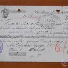 Documentos antiguos: LETRA 1940. Lote 45390875