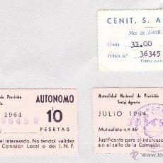 Documentos antiguos: MUTUALIDAD NACIONAL DE PREVISION SOCIAL AGRARIA 1964 .. Lote 45399530