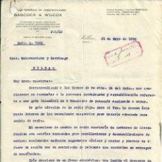 Documentos antiguos: IMPORTANTE DOCUMENTACION Y PLANO, GRUA DE VAPOR DE HORACIO ECHEVARRIETA 1930.. Lote 45536337