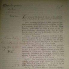 Documentos antiguos: DIPUTACION PROVINCIAL DE JAEN 1839 GUERRA CARLISTA. Lote 45599461