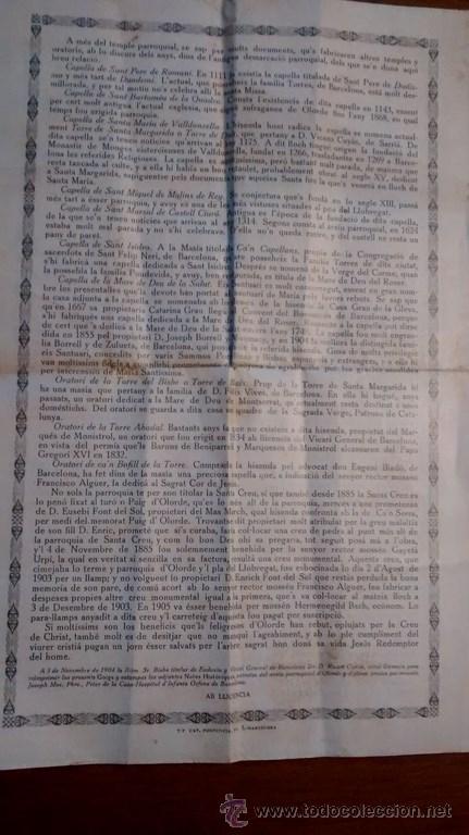 Documentos antiguos: GOIGS / EN LLOHANSA DE LA SANTA CREU / 7ª Edició / 1921 - Foto 3 - 45724719