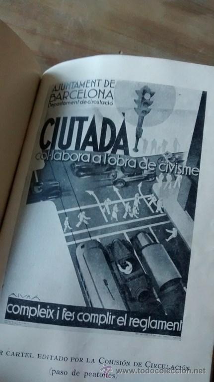 Documentos antiguos: REGLAMENTO GENERAL DE CIRCULACIÓN URBANA / BARCELONA / ILUSTRADO / 1ª Edición / 1933 - Foto 4 - 45725605