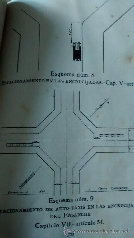 Documentos antiguos: REGLAMENTO GENERAL DE CIRCULACIÓN URBANA / BARCELONA / ILUSTRADO / 1ª Edición / 1933 - Foto 7 - 45725605