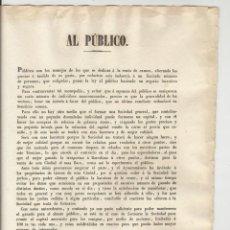 Documentos antiguos: TARRAGONA 1842 -BANDO AYUNTAMIENTO - DOCUMENTO SOBRE VENTA DE CARNE - VER FOTO. Lote 45742843
