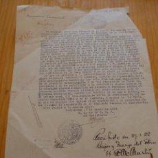 Documentos antiguos: DOCUMENTO DE AYUNTAMIENTO DE BARCELONA, 1925. Lote 45898693