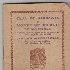 Documentos antiguos: ALMANAQUE 1943-CAJA DE AHORROS Y MONTE DE PIEDAD DE BARCELONA-. Lote 45932508