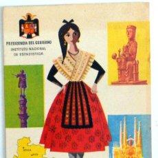 Documentos antiguos: TARJETA ANTIGUA 1962 INSTITUTO NACIONAL ESTADISTICA PRESIDENCIA DEL GOBIERNO PROVINCIA DE BARCELONA. Lote 45952566