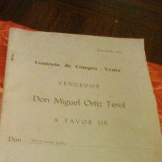 Documentos antiguos: CONTRATO DE COMPRA-VENTA DE INMUEBLE. 1966/67. VILLAJOYOSA.. Lote 45977176