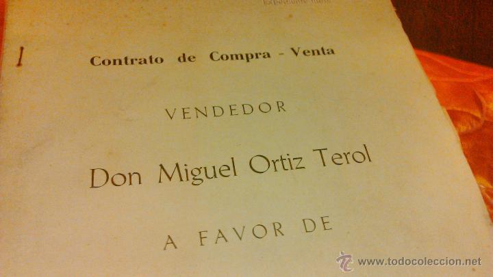Documentos antiguos: Contrato de compra-venta de inmueble. 1966/67. Villajoyosa. - Foto 2 - 45977176