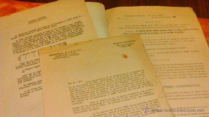 Documentos antiguos: Contrato de compra-venta de inmueble. 1966/67. Villajoyosa. - Foto 4 - 45977176