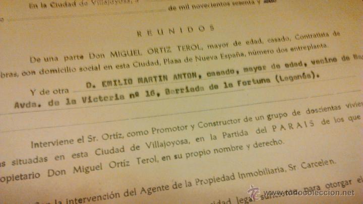 Documentos antiguos: Contrato de compra-venta de inmueble. 1966/67. Villajoyosa. - Foto 5 - 45977176