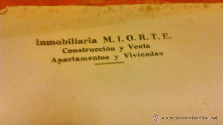 Documentos antiguos: Contrato de compra-venta de inmueble. 1966/67. Villajoyosa. - Foto 8 - 45977176