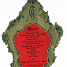 Documentos antigos: VALENCIA. HOTEL INGLES. MINUTA - MENU. DICIEMBRE 1954. Lote 57259073
