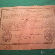 Documentos antiguos: INDULTO APOSTOLICO PARA EL USO DE CARNES. DE LEON XIII. 1901. 50 CENTIMOS . Lote 46064180