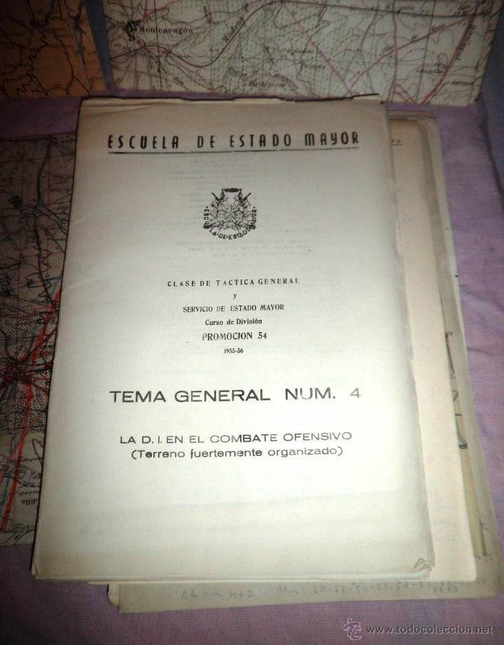 Documentos antiguos: DOCUMENTOS ESTADO MAYOR MILITAR - COMBATE OFENSIVO - AÑO 1955. - Foto 3 - 46070103