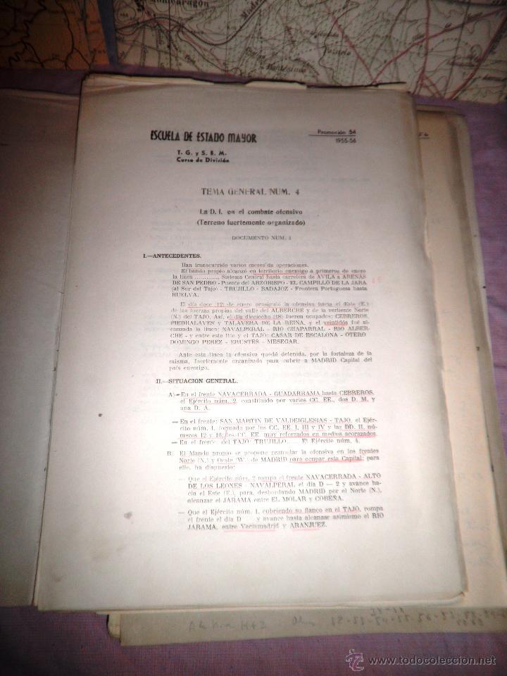 Documentos antiguos: DOCUMENTOS ESTADO MAYOR MILITAR - COMBATE OFENSIVO - AÑO 1955. - Foto 4 - 46070103