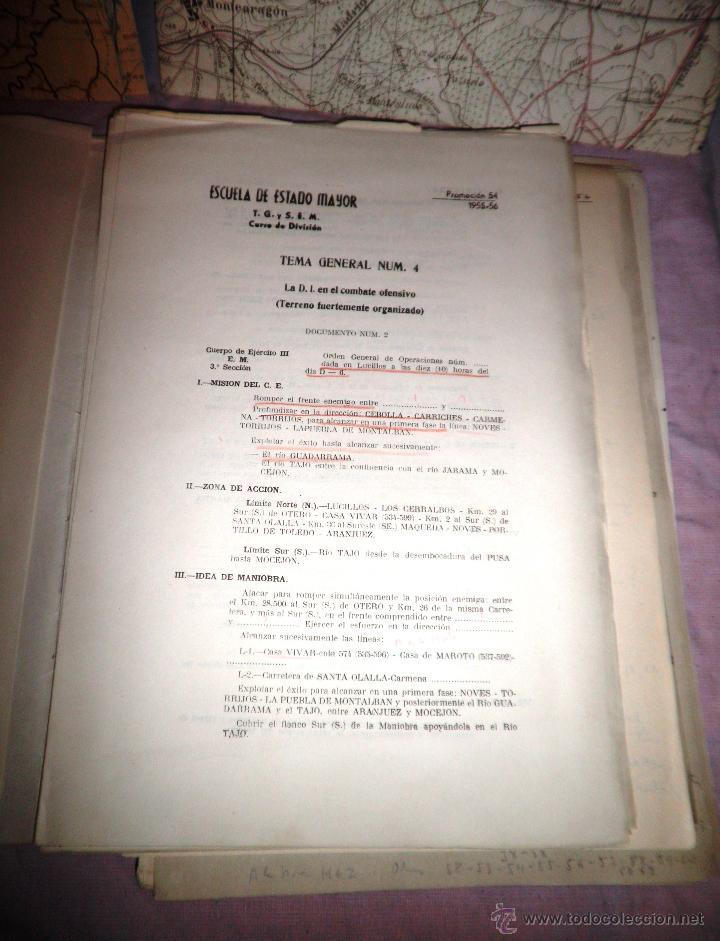 Documentos antiguos: DOCUMENTOS ESTADO MAYOR MILITAR - COMBATE OFENSIVO - AÑO 1955. - Foto 5 - 46070103