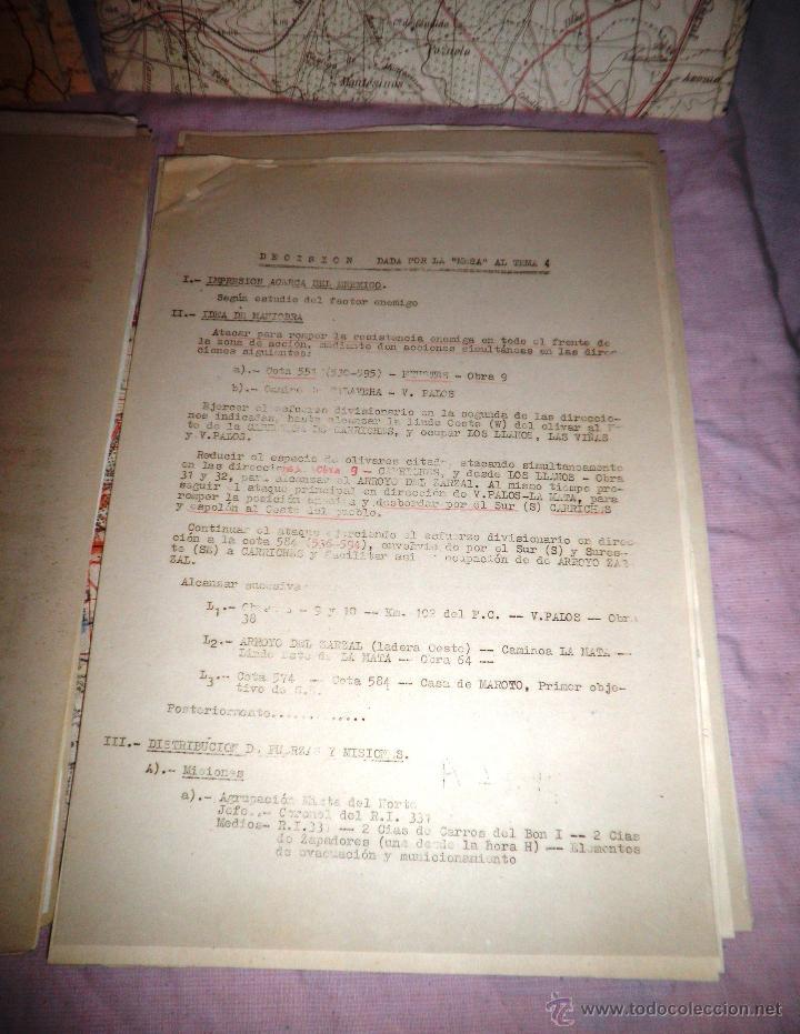 Documentos antiguos: DOCUMENTOS ESTADO MAYOR MILITAR - COMBATE OFENSIVO - AÑO 1955. - Foto 7 - 46070103