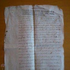 Documentos antiguos: SELLO QUARTO, QUARENTA MARAVEDIS 1807. Lote 46100012