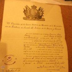 Documentos antiguos: TITULO DE NOMBRAMIENTO MILITAR-LARACHE 1.918 Y OTROS DOCUMENTOS. Lote 46216121
