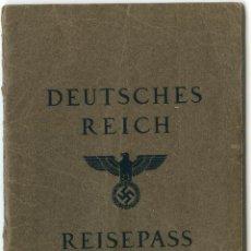 Documentos antiguos: PASAPORTE DE ALEMANIA 1939. Lote 46229431
