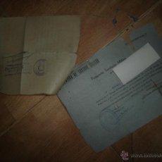 Documentos antiguos: DOCUMENTO PASAPORTE SALVOCONDUCTO SOLDADO PASAJE MILITAR MELILLA A MURCIA 1942 EJERCITO MAESTRAZGO. Lote 46222628