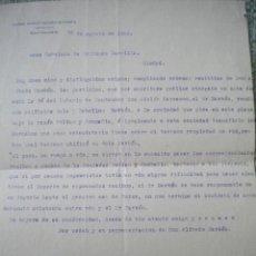 Documentos antiguos: INTERESANTES DOCUMENTOS DE RAFAEL BOTIN SANCHEZ DE PURRUA, PADRE DE EMILIO BOTIN, 25-8-33.SANTANDER.. Lote 46248258