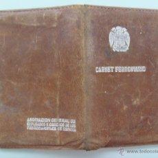 Documentos antiguos: CARTERA PARA EL CARNET DE FERROVIARIO , EPOCA DE FRANCO. Lote 46363100