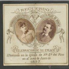 Documentos antiguos: INVITACION DE BODA - AÑO 1887 - VER FOTOS - (V-1516). Lote 46408986