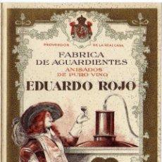 Documentos antiguos: PRECIOSA LISTA DE PRECIOS? - FABRICA DE AGUARDIENTES - EDUARDO ROJO - CONSTANTINA - SEVILLA. Lote 105444019