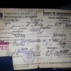 Documentos antiguos: COMISARIA GENERAL DE ABASTECIMIENTOS Y TRANSPORTES 1919 CADIZ. Lote 46489663