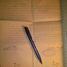 Documentos antiguos: CONTRATO DE LA SOCIEDAD DE CANTEROS Y MARMOLISTAS DE MACAEL 1938 ALMERIA GUERRA CIVIL. Lote 46514915