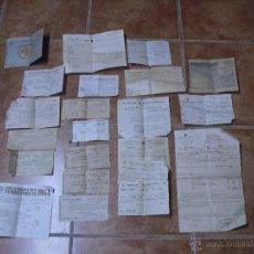 Documentos antiguos: LOTE DOCUMENTOS NULES CASTELLON INMEDIATA POSGUERRA AGRICULTURA, SINDICATO, POLICIA RURAL ETC. Lote 46516157